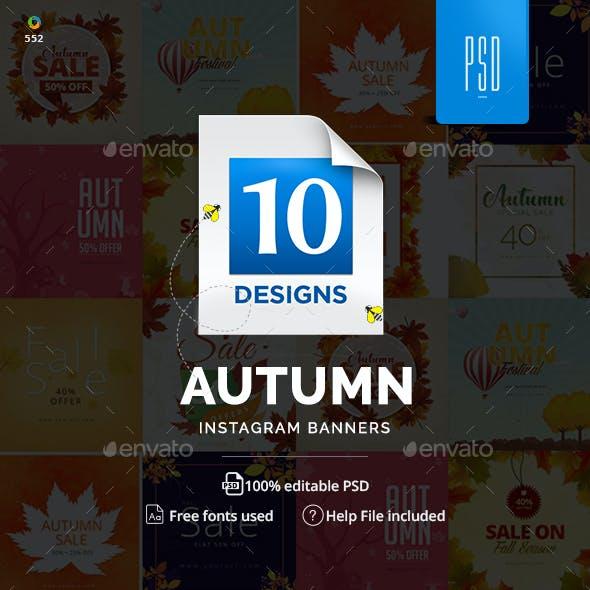 Autumn Sale Instagram Templates by Hyov | GraphicRiver