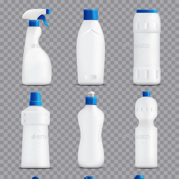 Detergent Bottles Packaging Collection