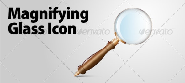 Magnifying glass icon - Decorative Vectors