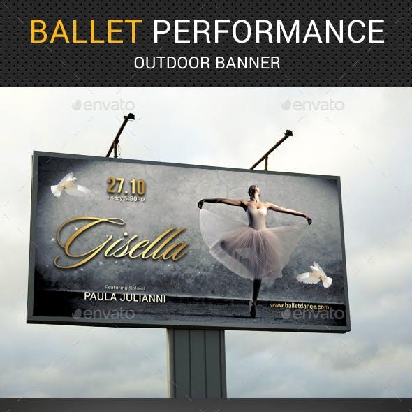Ballet Outdoor Banner