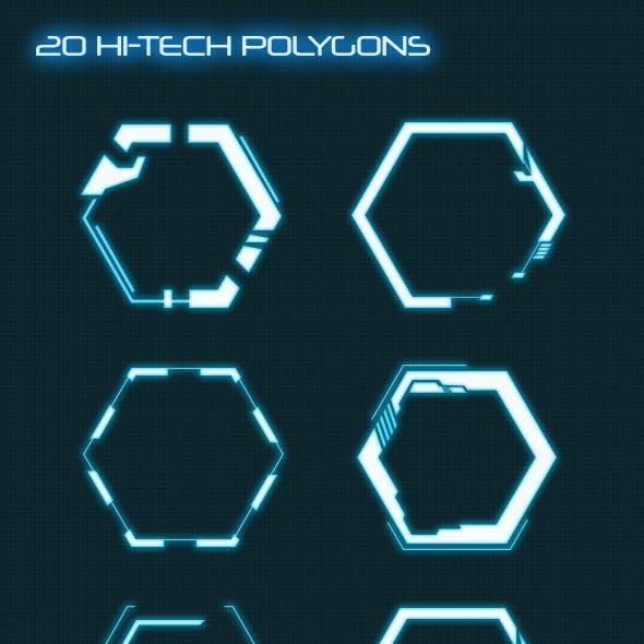 Hi-Tech HUD Polygons (Custom Shapes)