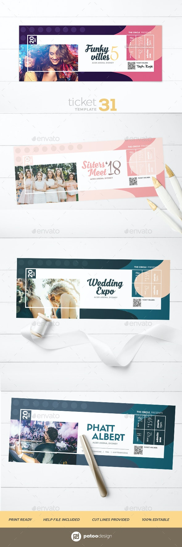 Event Tickets 31 - Miscellaneous Print Templates