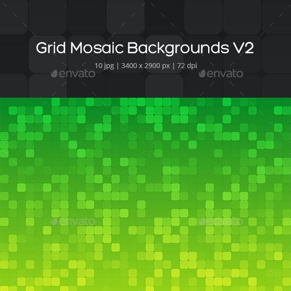 Grid Mosaic Backgrounds v2