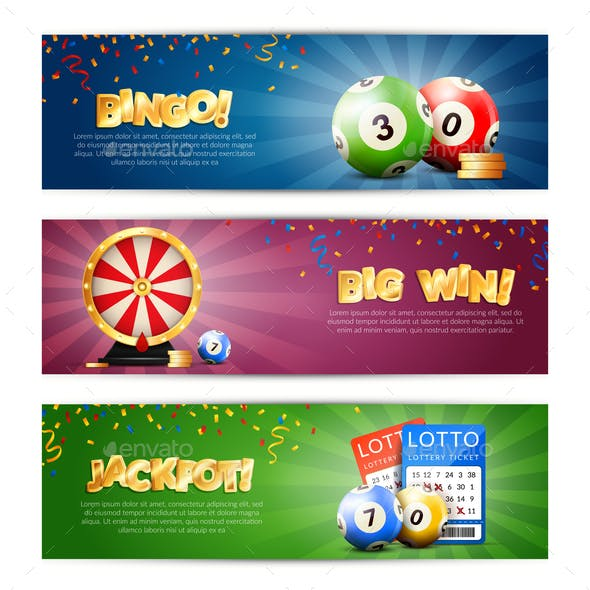 Lottery Jackpot Banners Set