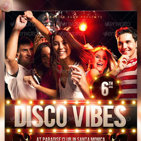 Disco Vibes Party Flyer Template