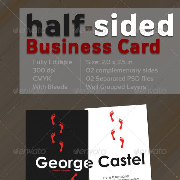 Half-Sided Business Card