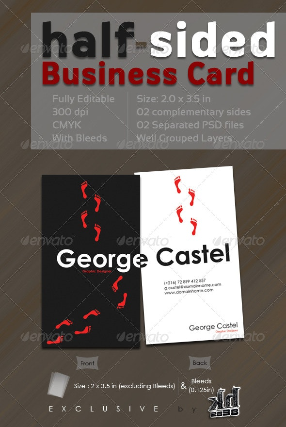 Half-Sided Business Card - Creative Business Cards