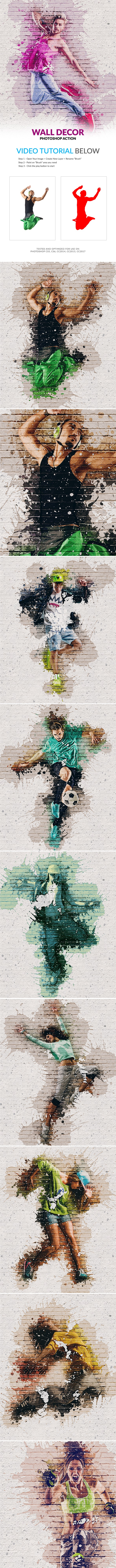 Wall Decor Photoshop Action - Photo Effects Actions