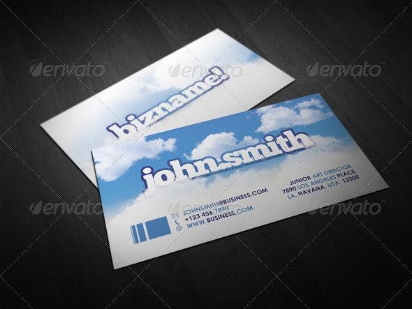 Sky Business Card - Creative Business Cards