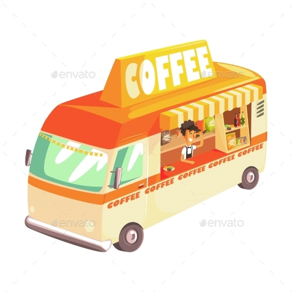 Coffee Truck - Man-made Objects Objects