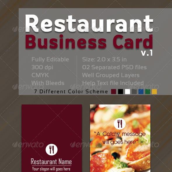 Restaurant  Business Card V.1