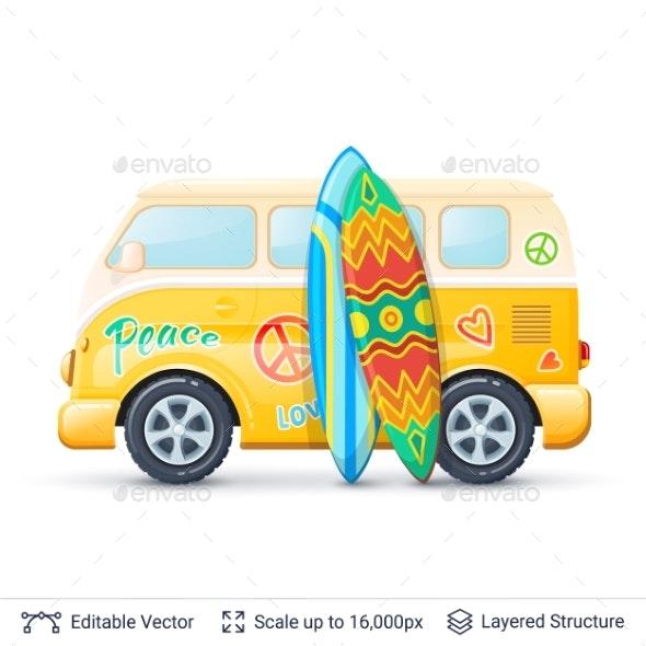 Classic Surf Bus - Miscellaneous Vectors