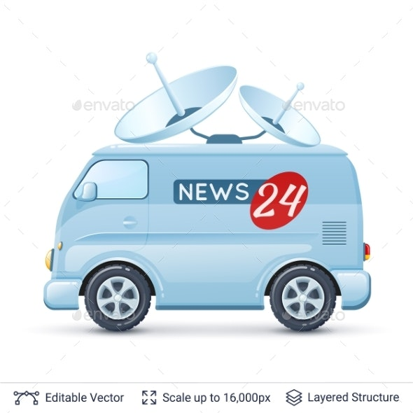 News Reporter Van - Media Technology