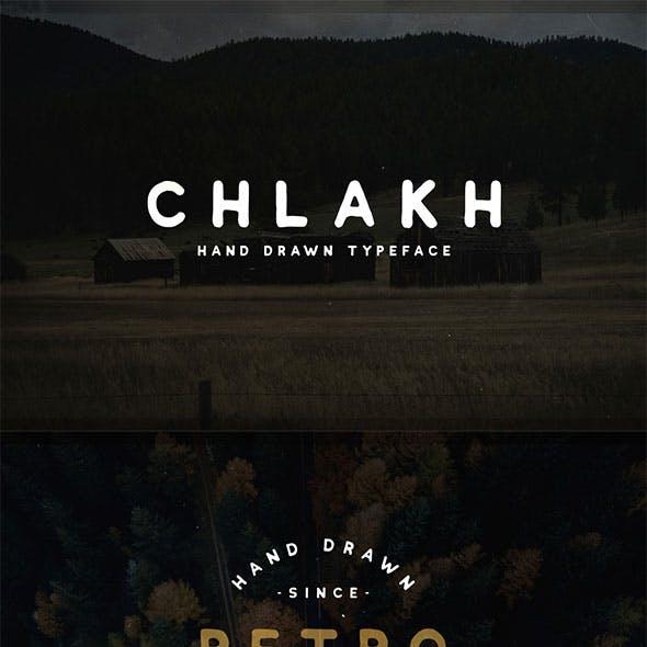 Chlakh - Hand Drawn Font