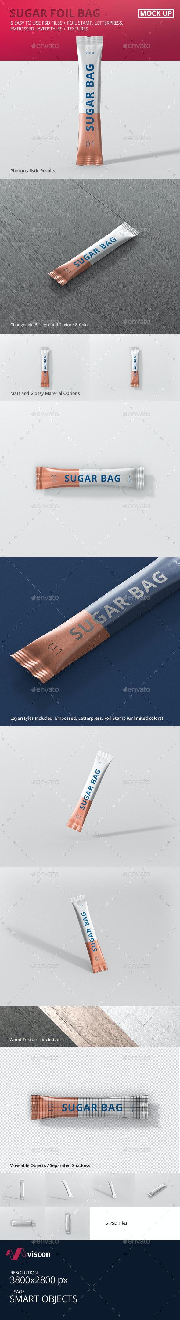 Sugar Bag Mockup - Food and Drink Packaging