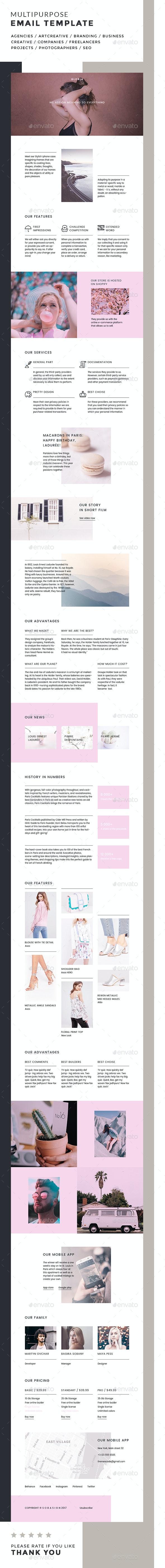 Gloria / Multipurpose Email Template