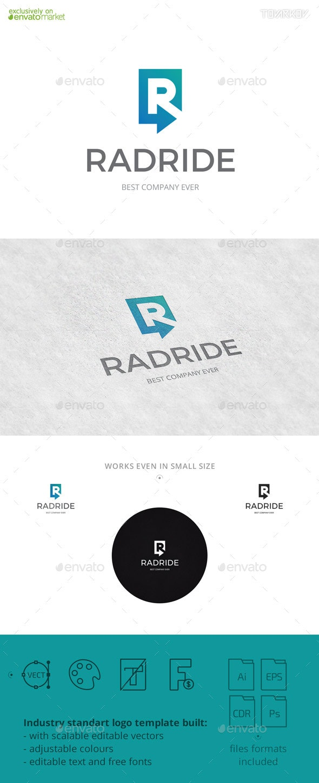 Radride Letter R Arrow Logo Template - Letters Logo Templates
