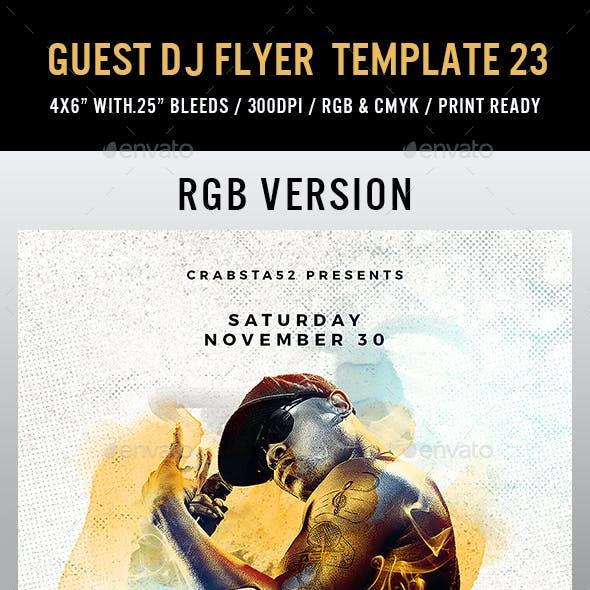Guest DJ Flyer Template 23