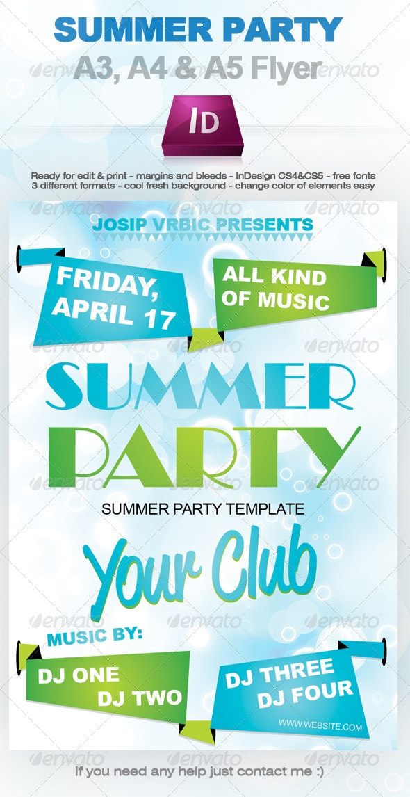 Simple Summer Party Flyer - Clubs & Parties Events