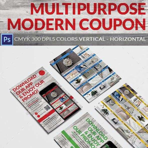 Multipurpose Modern Coupon