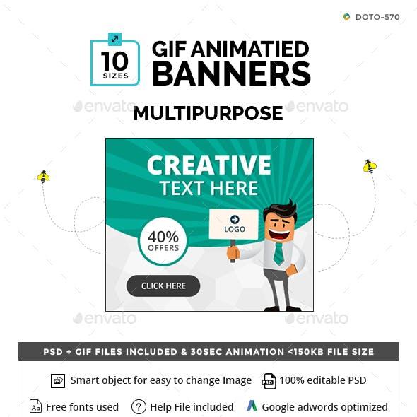 Multipurpose Animated GIF Banners