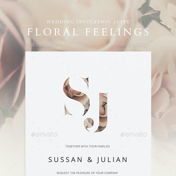 Wedding Invitation Suite - Floral Feelings