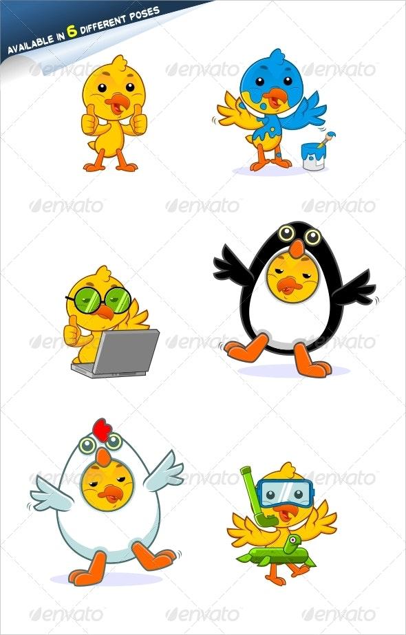 Chick Mascot - Animals Characters