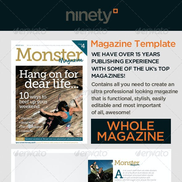 Monster Magazine Template