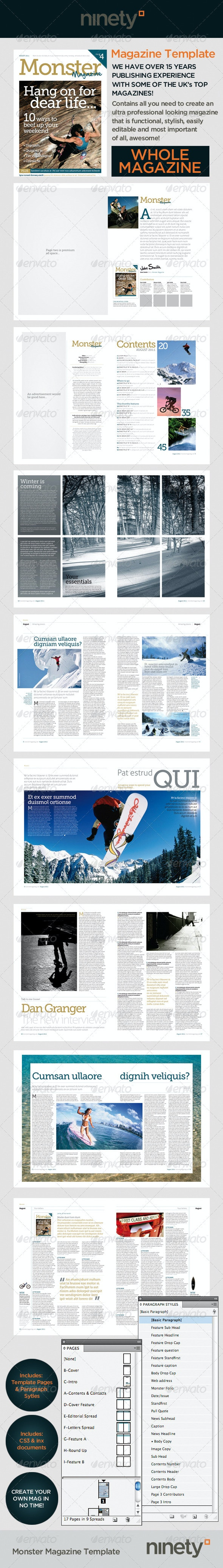 Monster Magazine Template - Magazines Print Templates