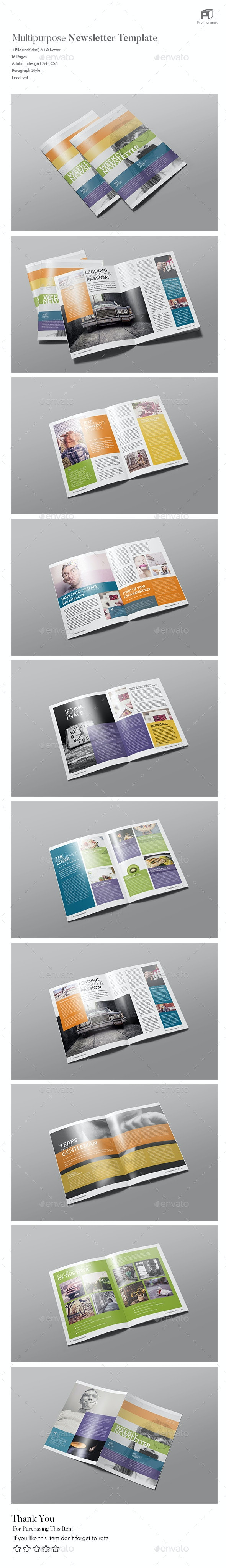 Modern Colorful Newsletter Vol. 4