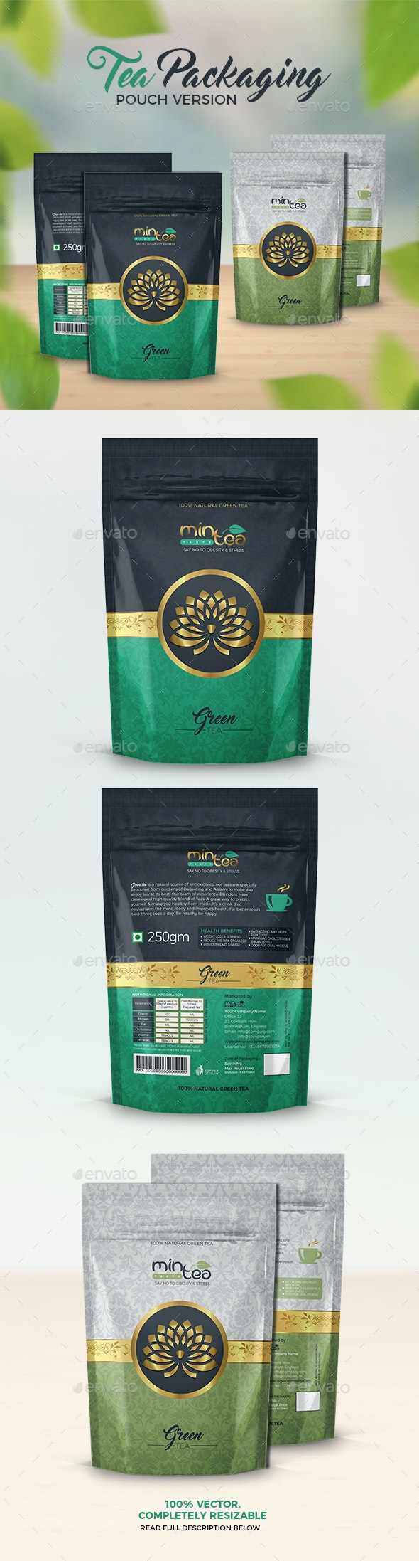 Tea Packaging (Pouch Version)