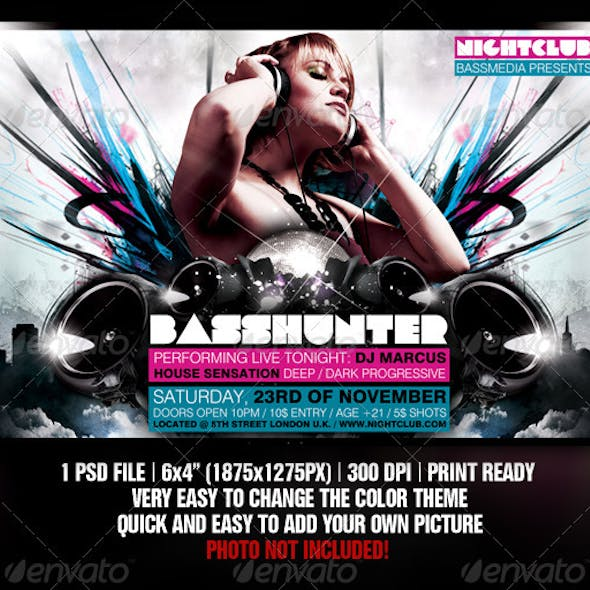 Basshunter Party Flyer Template