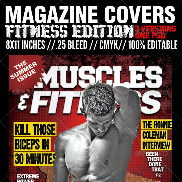 Magazine Cover Templates - Fitness Edition