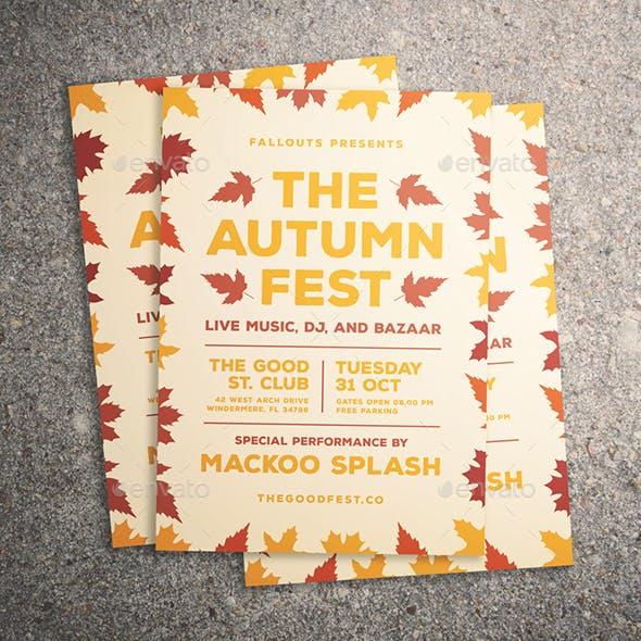 Autumn Festival Flyer
