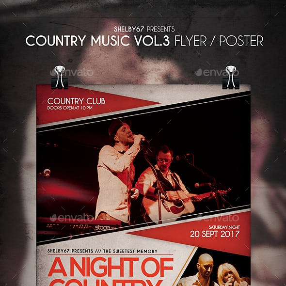 Country Music Flyer / Poster Vol 3