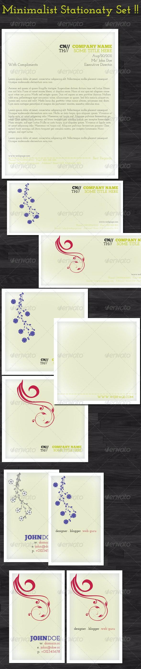 Minimalist Stationary Set - Stationery Print Templates