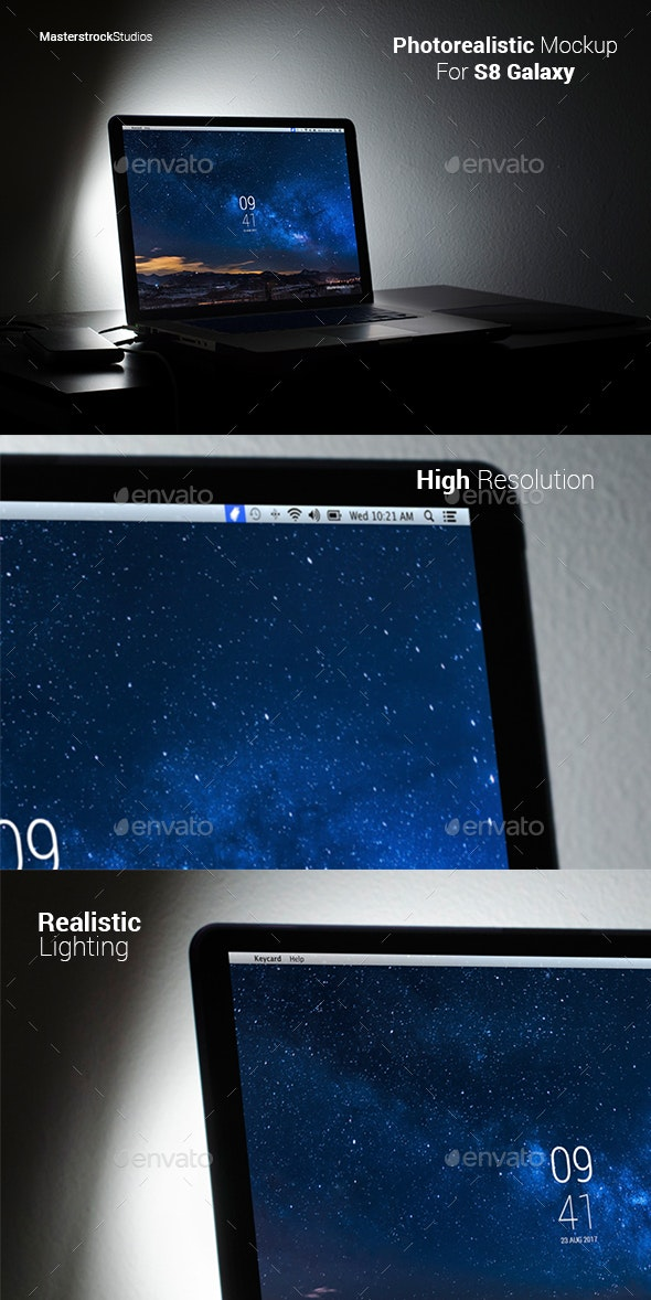 Macbook Photorealistic Mockup - Laptop Displays