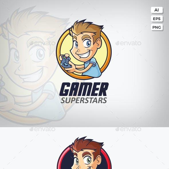 Gamer Guy Logo Template