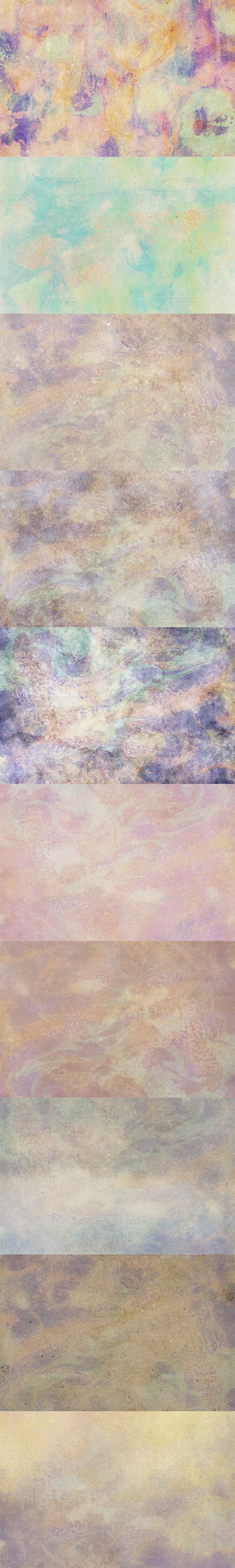 10 Old Washed Watercolor Paper Textures