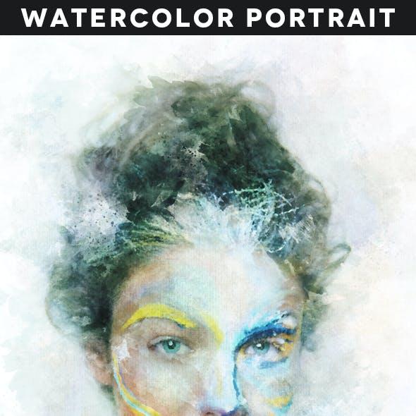 Watercolor Portrait Action