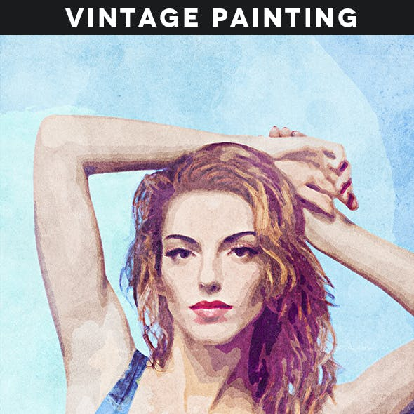 Vintage Painting Action