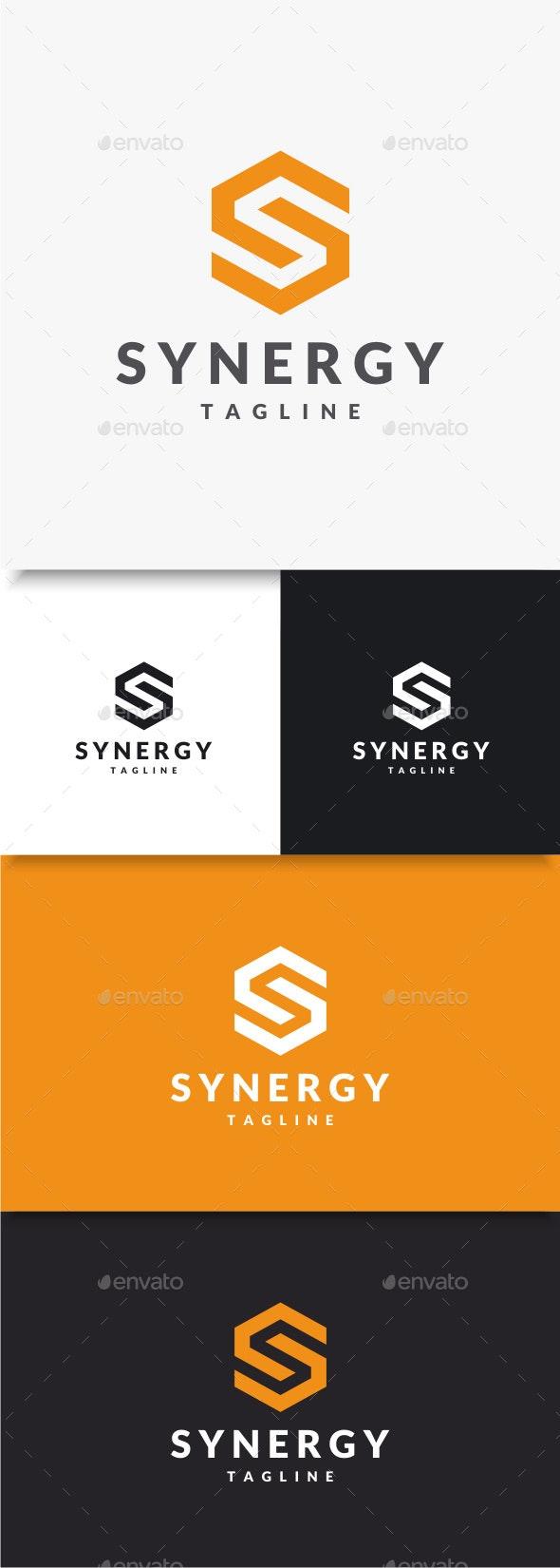 Synergy - Letter S Logo - Letters Logo Templates