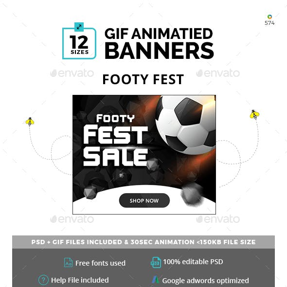 Footy Fest Animated GIF Banners