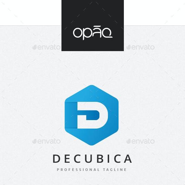 Cubical D Letter Logo
