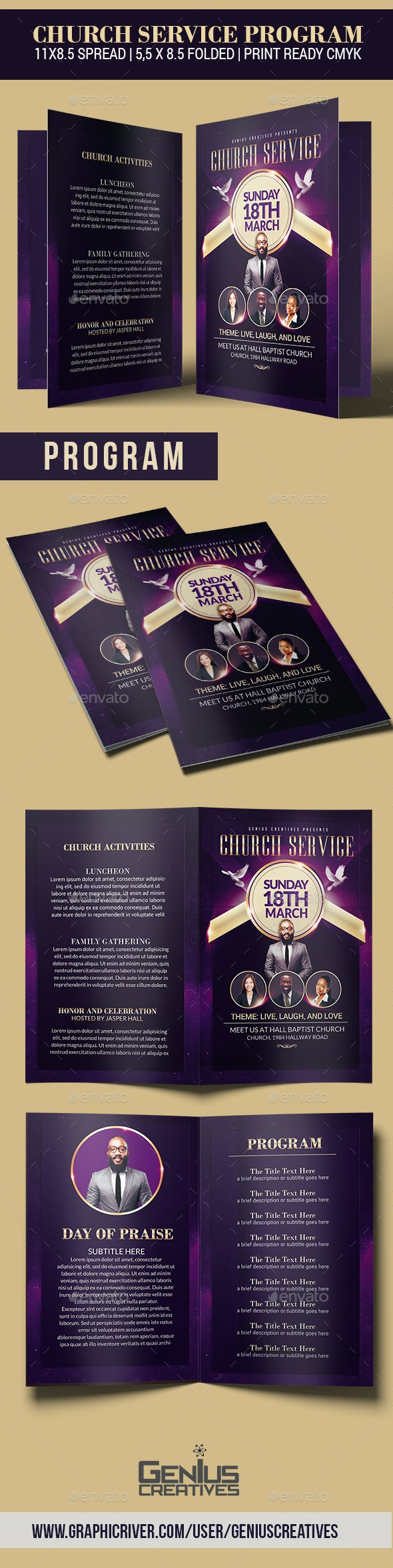 Church Service Program - Informational Brochures
