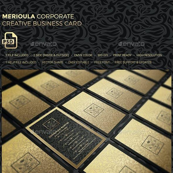 Merioula Elegant Business Card