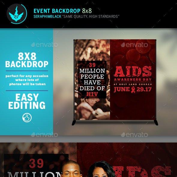 AIDS Awareness 8x8 Event  Backdrop Template