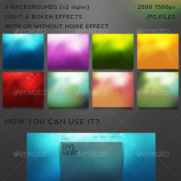 light & bokeh backgrounds