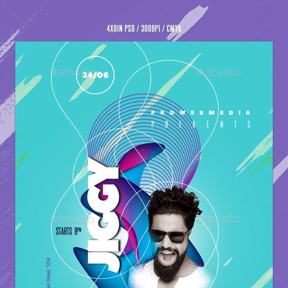 Abstract DJ Flyer