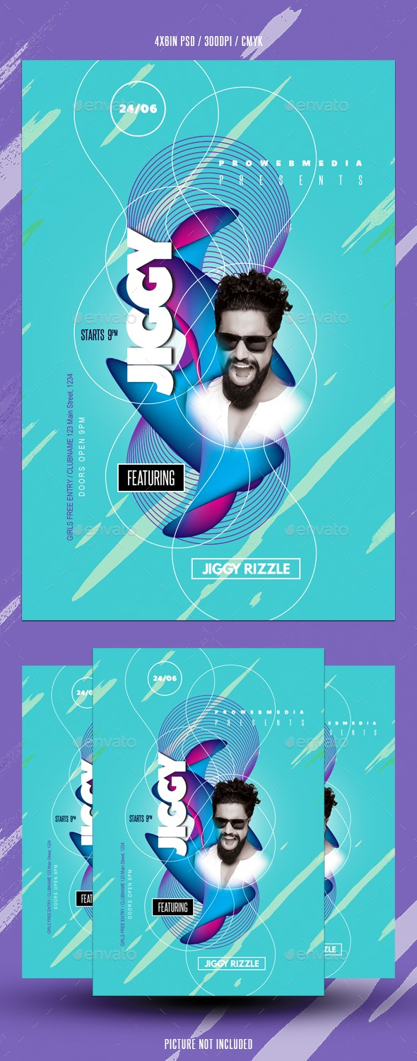 Abstract DJ Flyer - Events Flyers